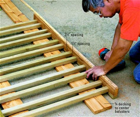Attaching Balusters To Handrail deck boards fasteners mounting deck boards