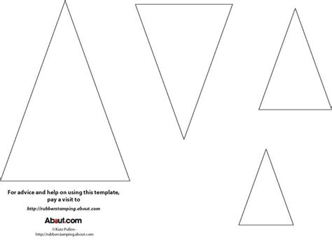 Triangle Card Template by 25 Best Ideas About Triangle Template On