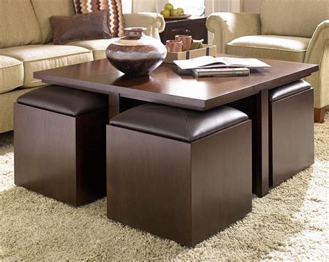 Table With Storage Stools coffee table with storage stools coffee table design ideas