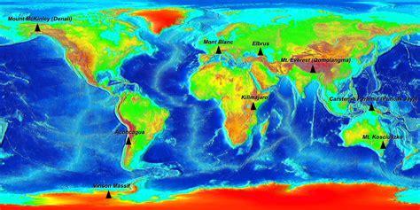 7 world map file seven summits elevation world map png wikimedia commons