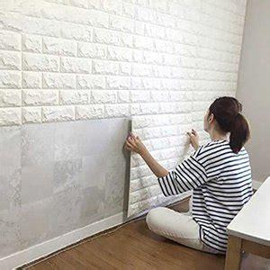 jual wallpaper dinding tembok motif foam panel bata putih