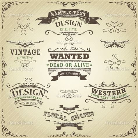 western design elements vector free 10 oval frontier western design vectors images metal