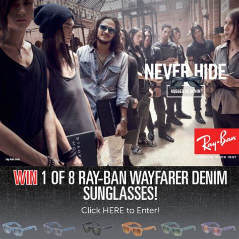 Win A Pair Of Ban Wayfarers Courtesy Of Dj Ronson by Win 1of 8 Ban Wayfarer Denim Sunglasses Classic