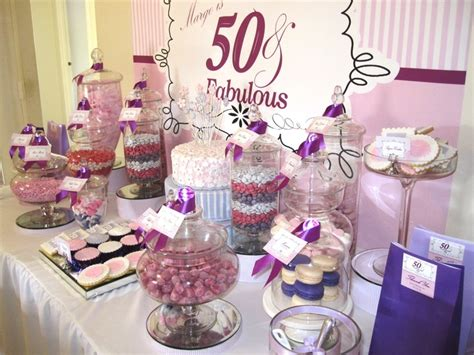 50th birthday colors 50 fabulous birthday buffet with purple pink white