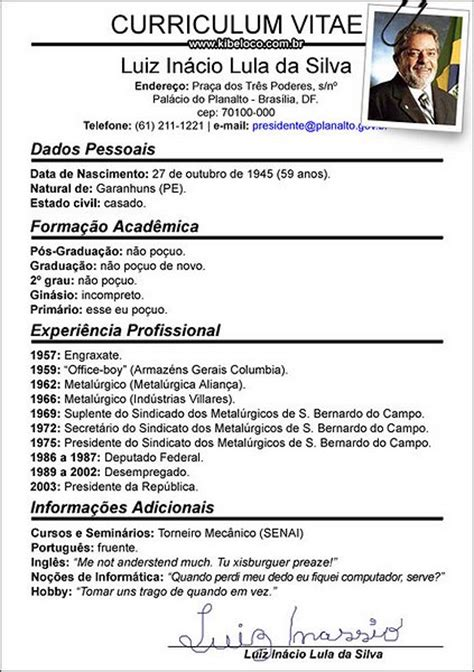 Modelo Curriculum Dominicano exemplos de curriculum vitae