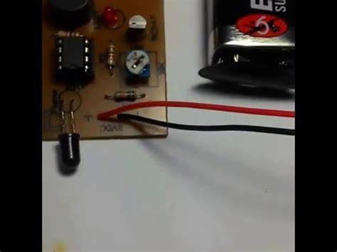 rangkaian alarm kebakaran sensor api