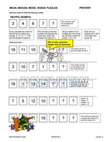 mean median mode worksheets by math crush