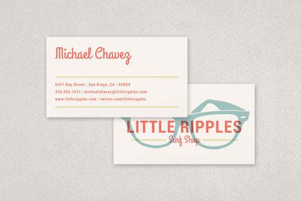 business cards templates surf shop surf shop business card template inkd