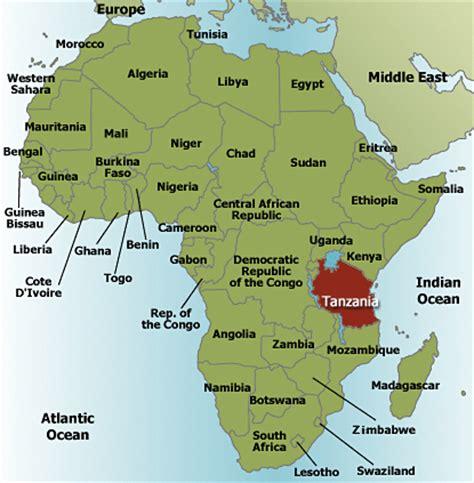 africa map tanzania mtana safaris 187 tanzania