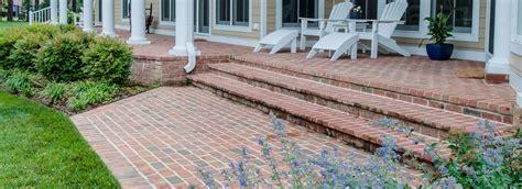 brick porch brickwork mchale landscape design