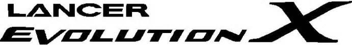 Mitsubishi Evolution Logo Mitsubishi Decals Mitsubishi Lancer Evolution X Decal