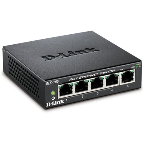 Switch Dlink 5 Port d link des 105 5 port 10 100 fast ethernet switch des 105 b h