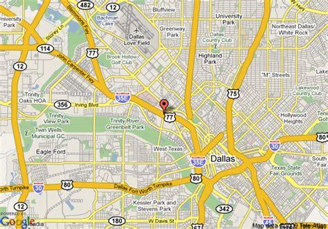 dallas texas us map map of renaissance dallas dallas
