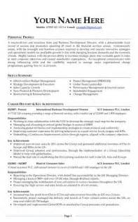 it cv template uk cv exles free