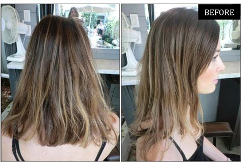 before and after hair makeovers before after golden walnut blonde neil george