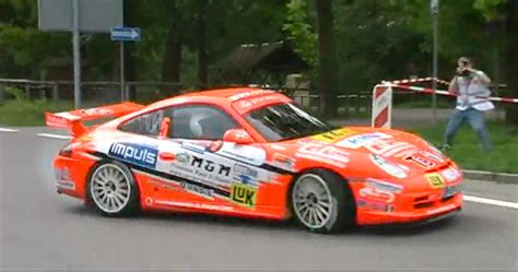 porsche rally car jump video porsche 911 gt3 rally cars provide perfect friday
