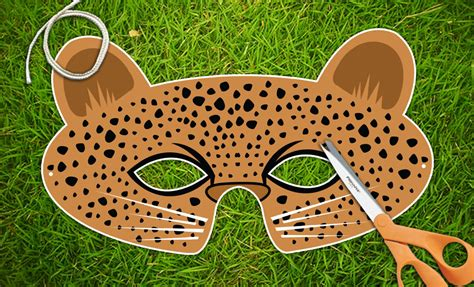 leopard mask template leopard printable pdf mask mask by therasilisk