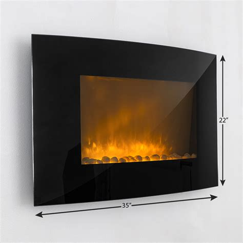 electric wall fireplaces heater wall mount large 1500w heat adjustable electric wall mount fireplace heater with glass xl