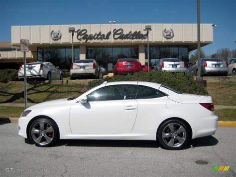 white lexus 2010 2010 starfire white pearl lexus is 250c convertible