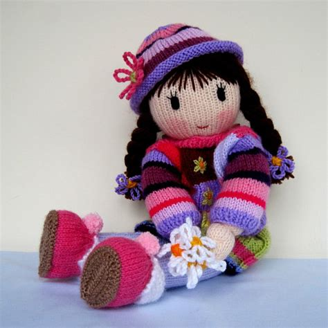 you doll design etsy posy doll knitting pattern knitted doll pdf instant by