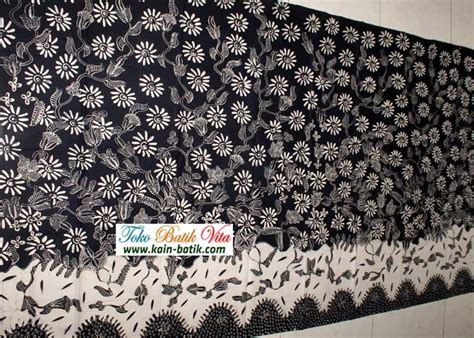 Kain Batik Tulis Madura Hitam Kuning batik madura hitam putih kbm 6627 kain batik murah