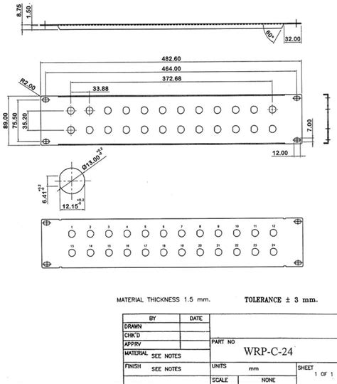 wrp c 24 24 port 1 2 inch coax 2u rack mount panel
