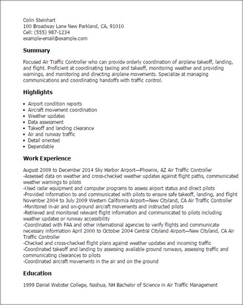 Flight Traffic Controller Cover Letter by Professional Air Traffic Controller Templates To Showcase Your Talent Myperfectresume