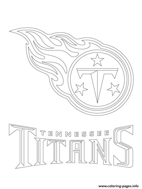 coloring pages sports logos tennessee logo football sport coloring pages printable
