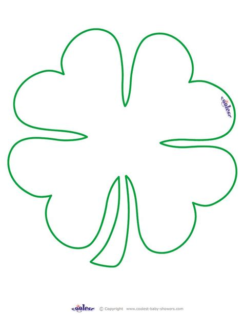 four leaf clover template 10 best images about beading coloring on