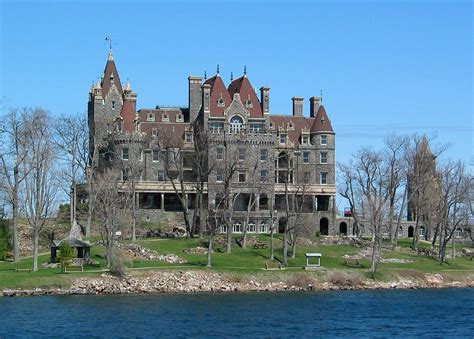 House With Moat by File 1000 Islands Boldt Castle St Lawrence River Usa