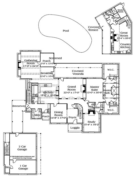 pool home plans pool house blueprints bill house plans