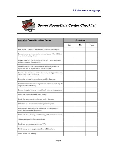 data center checklist template best photos of template of room check housekeeping