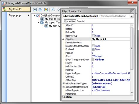customize outlook 2013 2010 context menus and menu bar office 2016 2013 2010 add in in delphi ribbon tabs