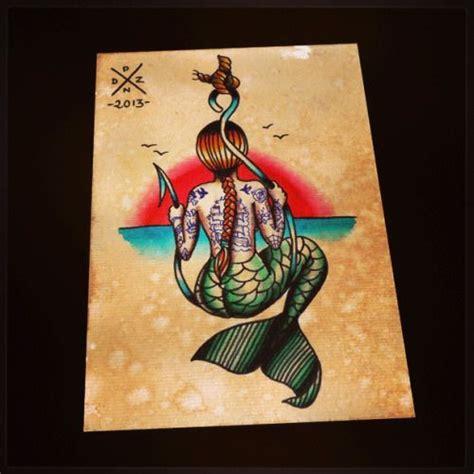 old school mermaid tattoo designs school mermaid search creative