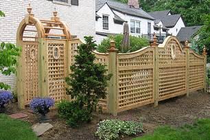 Wooden Trellis Fence Designs Design Of Lattice Fence Design For Your Garden
