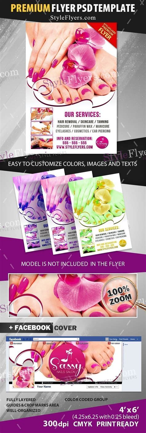 Nail Salon Psd Flyer Template 17877 Styleflyers Flyer Template 2