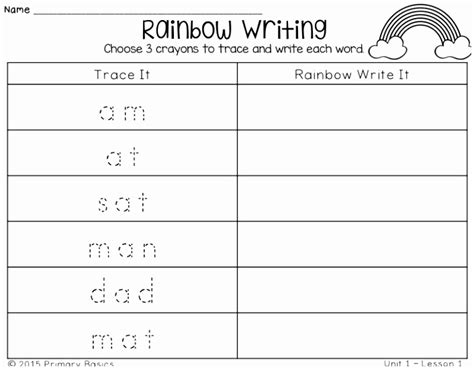rainbow writing spelling words template 8 rainbow writing spelling words template ytwis