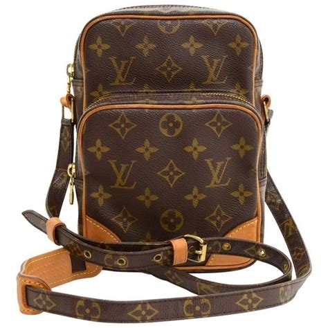 louis vuitton amazone monogram canvas messenger bag  stdibs