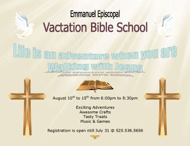 vacation bible school certificate templates 12 free flyers to promote church events
