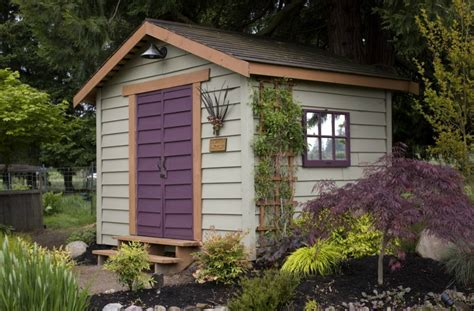 Painted Garden Sheds by How To Use Paint To Instantly Refresh Your Garden