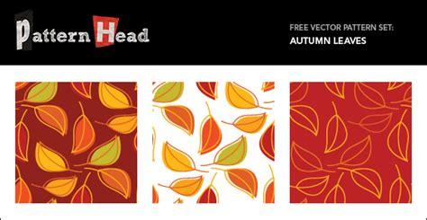 illustrator pattern leaves free seamless vector patterns autumn leaves patternhead
