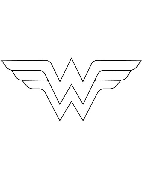 wonder woman logo template cut out coloring page party