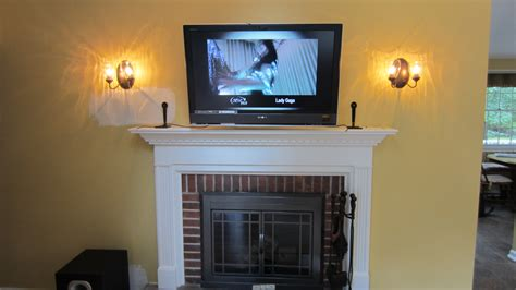 mounted tv fireplace home theater installation page 7