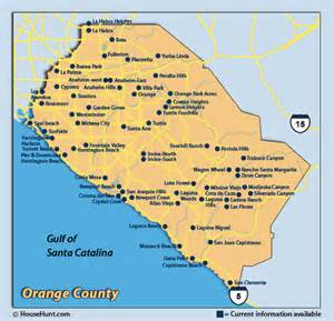 where is orange county california on map map of orange county