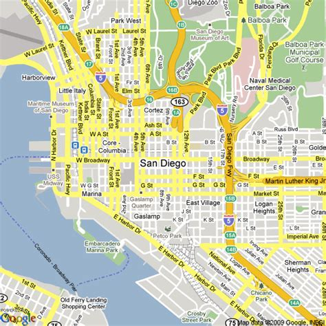 map san diego map of san diego united states hotels accommodation