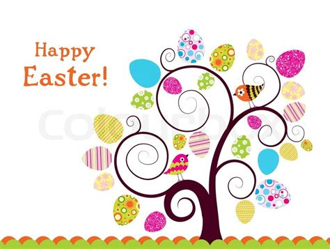 Easter Greeting Card Template by Template Easter Greeting Card Vector Stock Vector