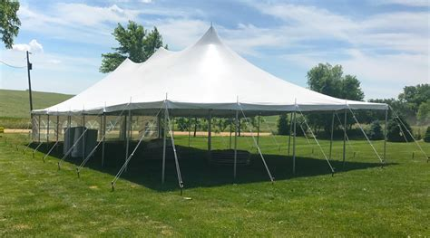 backyard outdoor wedding tent reception in de witt iowa
