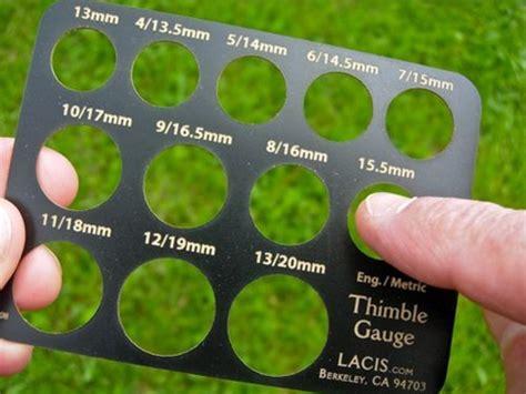 how to measure girth thimble