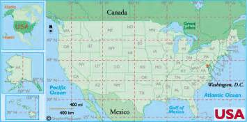 map of united states with longitude and latitude us states latitude and longitude