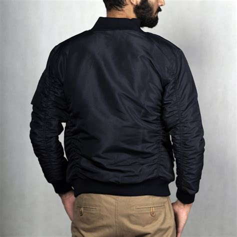 Jaket Parasut Pria Parasut jaket parasut pria bomber navy mall indonesia